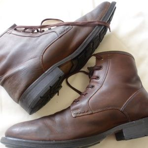 Ted Baker London, Brown leather ankle boots.